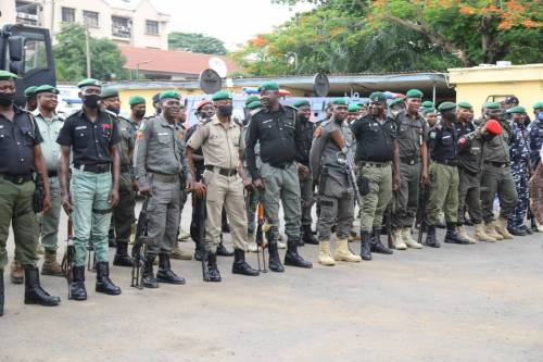 1625240610 517 Lagos Police Embark On Show Of Force Intimidation Ahead Of