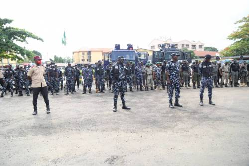 1625240610 952 Lagos Police Embark On Show Of Force Intimidation Ahead Of