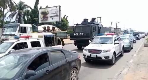 1625240611 909 Lagos Police Embark On Show Of Force Intimidation Ahead Of