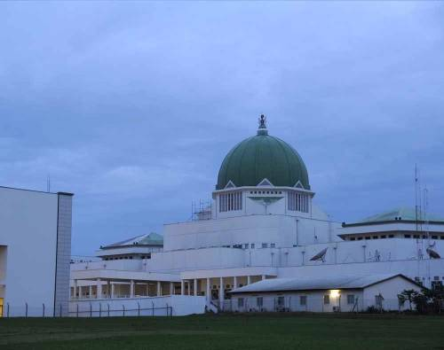 Again, Nigeria's National Assembly Complex Turned To 'Mini Fish Pond' After Rainfall