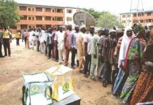 BUSTED: APC Supporters Cast Votes Without Voter Cards In Lagos Council Election