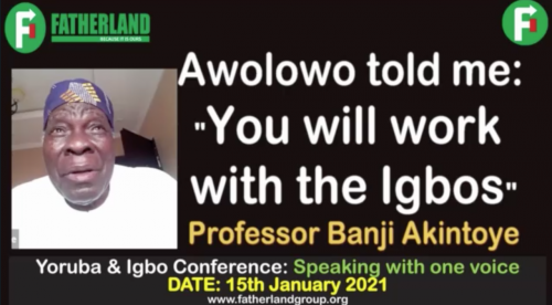 Yoruba, Igbo Must Work Together For Freedom – Prof Akintoye Recalls Conversation With Awolowo In Video