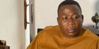 Sunday Igboho Blows Hot From Beninese Prison In Leaked Audio, Lambasts His Lawyer For 'Disrespecting Him'